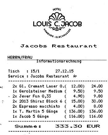 jacobs restaurant in hamburg. Black Bedroom Furniture Sets. Home Design Ideas